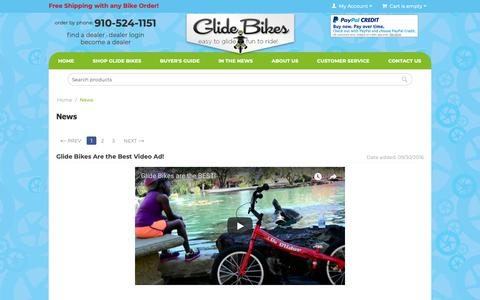 Screenshot of Blog glidebikes.com - News - Glide Bikes - Balance Bikes for 18 months to 10 years old! - captured Sept. 28, 2018