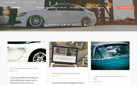 Screenshot of Blog flipped.ca - Flipped.ca | Canadian Automotive Blog | Tips to sell and trade-in your car - captured Oct. 14, 2017