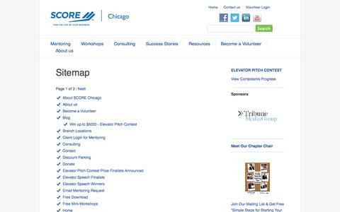 Screenshot of Site Map Page scorechicago.org - SCORE Chicago - Sitemap - captured Sept. 22, 2014