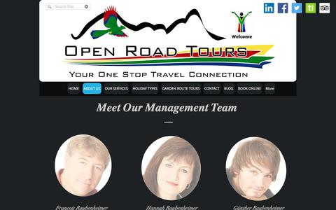 Screenshot of About Page openroadtours.co.za - Open Road Tours | South Africa | ABOUT US - captured June 16, 2017
