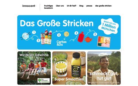 Screenshot of Home Page innocentdrinks.at - Innocent drinks – kleine feine smoothies - captured March 6, 2016