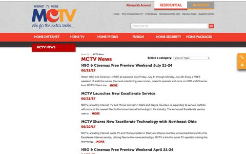 Screenshot of Press Page mctvohio.com - MCTV News | Massillon, Canton, Wooster, OH - captured June 28, 2017
