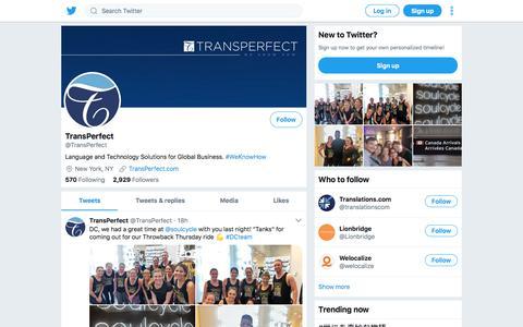 Tweets by TransPerfect (@TransPerfect) – Twitter
