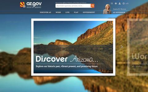 Screenshot of Home Page az.gov - az.gov - captured Sept. 18, 2014