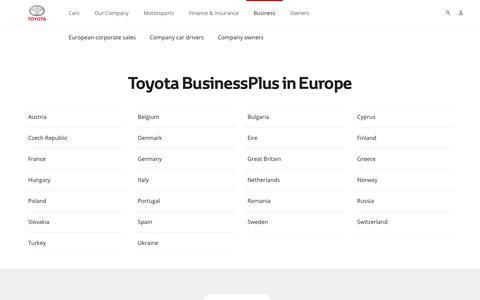 Toyota BusinessPlus in Europe