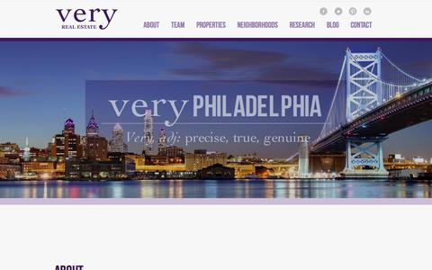 Screenshot of Home Page veryre.com - Very Real Estate | Philadelphia Real Estate Firm - captured Oct. 7, 2014