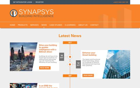 Screenshot of Press Page synapsys-solutions.com - News | Synapsys Solutions - captured Oct. 19, 2018