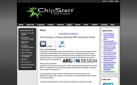Screenshot of Press Page chip-start.com - News - captured Sept. 29, 2014