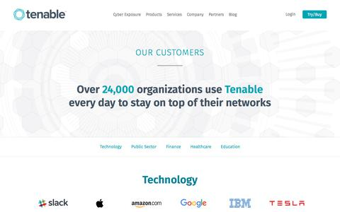 Our Customers | Tenable™