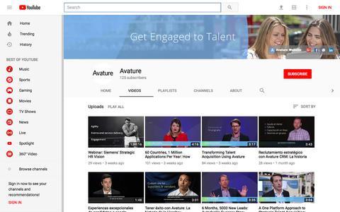 Avature - YouTube - YouTube