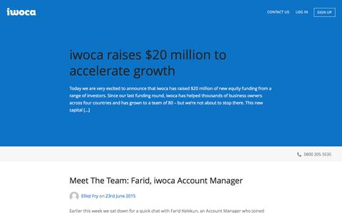 Screenshot of Blog iwoca.co.uk - iwoca - Blog - captured Feb. 19, 2017