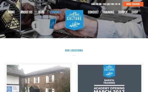 Screenshot of Contact Page coffeeculture.ie - Contact - Coffee Culture - captured May 19, 2017
