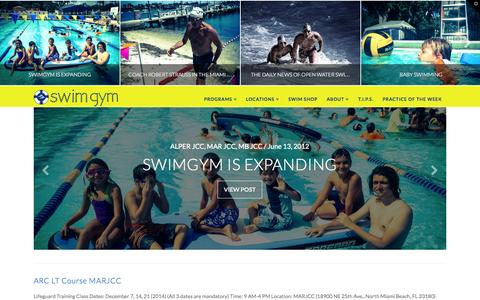 Screenshot of Home Page swimgym.net - SWIM GYM | Swim Lessons - captured Aug. 12, 2015