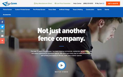 Screenshot of About Page fencescreen.com - About FenceScreen - captured Nov. 6, 2018
