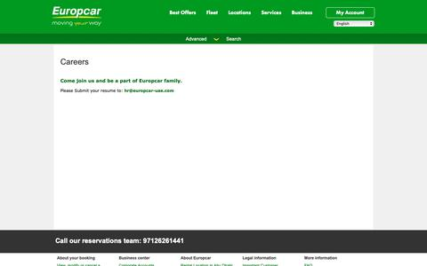 Screenshot of Jobs Page europcar-abudhabi.com - Europcar Abu Dhabi - Careers - captured Jan. 3, 2019