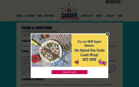 Screenshot of Terms Page cabana-brasil.com - Terms & Conditions - Cabana Brasilian Barbecue - captured July 4, 2017