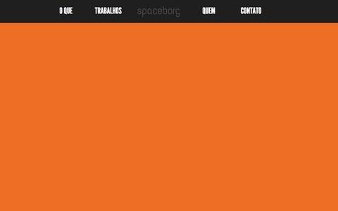 Screenshot of Home Page spaceborg.com.br - spaceborg - design para o que for preciso - captured Oct. 7, 2014