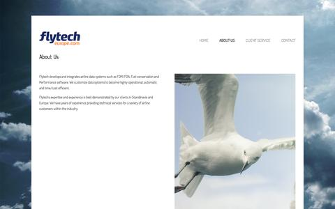Screenshot of About Page flytecheurope.com - About Us | FlytechEurope - captured Sept. 30, 2014