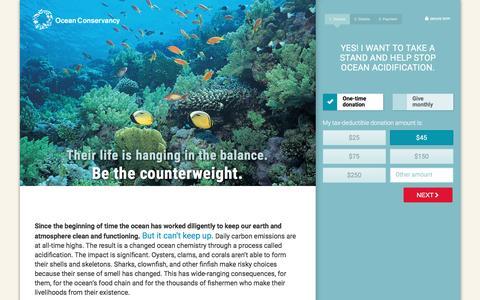 Screenshot of Landing Page oceanconservancy.org - Ocean Conservancy - captured Dec. 16, 2016