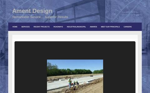 Screenshot of Home Page ament.com - Ament Design – Remarkable Service… Superior Results - captured Feb. 6, 2016