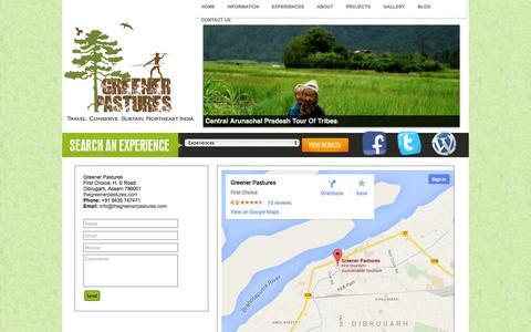 Screenshot of Contact Page thegreenerpastures.com - GP Contact - captured Oct. 3, 2014