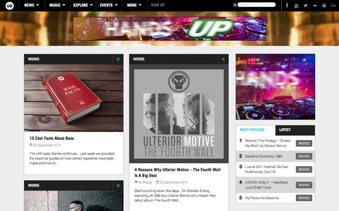 Screenshot of Press Page ukf.com - News - UKF - captured Sept. 23, 2014