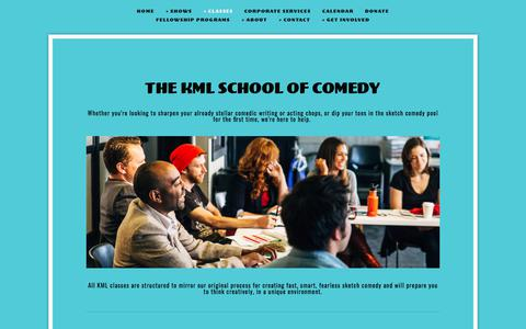Screenshot of Signup Page killingmylobster.com - The KML School of Comedy — Killing My Lobster - 20 Years of Comedy in San Francisco - captured Sept. 20, 2018