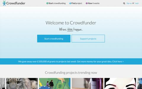 Start crowdfunding on Crowdfunder UK - where ideas happen