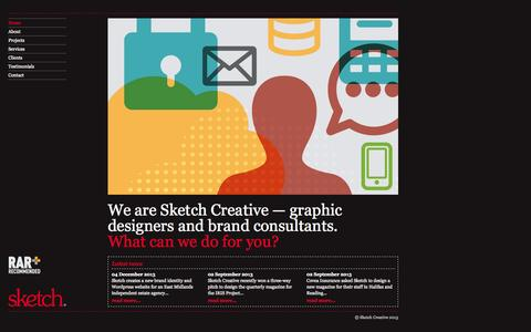 Screenshot of Home Page sketch-creative.co.uk - Sketch Creative - Home - captured Sept. 30, 2014