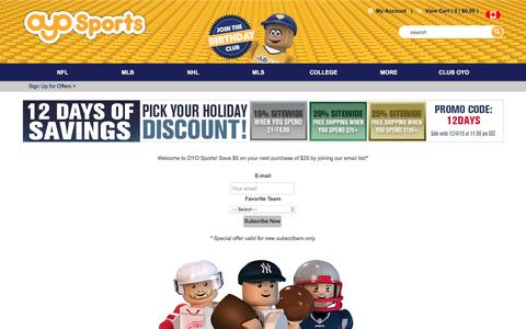 Screenshot of Signup Page oyosports.com - OYO Sports | Sign up and Save - captured Dec. 4, 2016