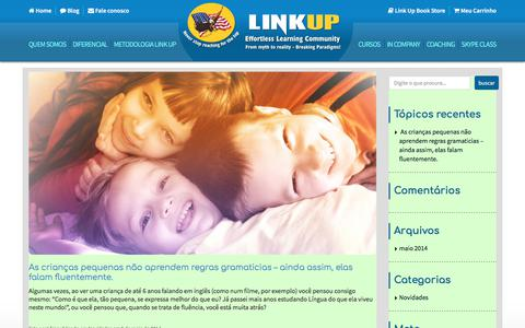 Screenshot of Blog linkupcommunity.com.br - Blog - linkup - captured Aug. 9, 2017