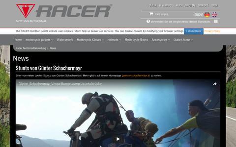 Screenshot of Press Page racer.at - RACER Outdoor GmbH - News - captured Nov. 28, 2016