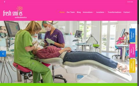 Screenshot of Home Page freshsmiles.com.au - Geelong Orthodontics & Invisalign | Fresh Smiles Orthodontics - captured Feb. 10, 2016