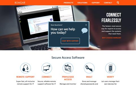 Remote Desktop Software for Secure Access | BOMGAR