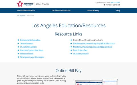 Los Angeles Waste & Recycling Resources | Republic Services