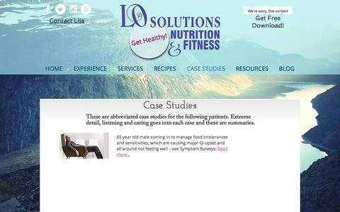 Screenshot of Case Studies Page lo-solutions.com - losolutions-1 | CASE STUDIES - captured Jan. 3, 2018