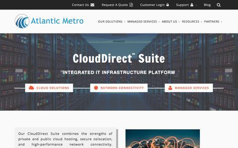 Screenshot of Home Page atlanticmetro.net - Atlantic Metro Communications - captured Oct. 9, 2017