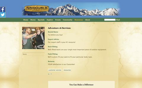 Screenshot of Services Page adventure16.com - Services from A16 Experts | Adventure 16 - captured Oct. 29, 2014