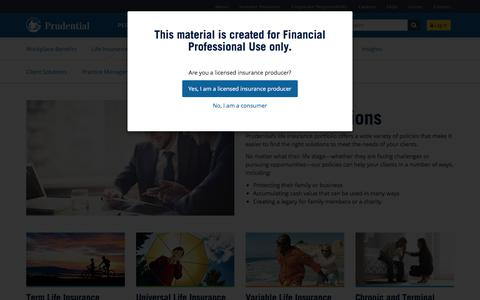 Product Solutions | Prudential Financial