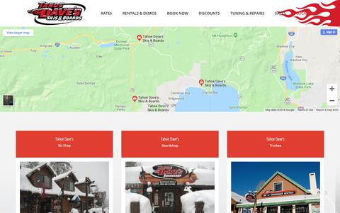 Screenshot of Locations Page tahoedaves.com - Locations – Tahoe Dave's - captured Oct. 18, 2018