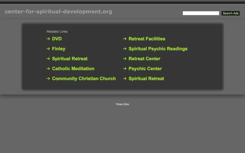 Screenshot of Home Page center-for-spiritual-development.org - Center-For-Spiritual-Development.org - captured June 23, 2016
