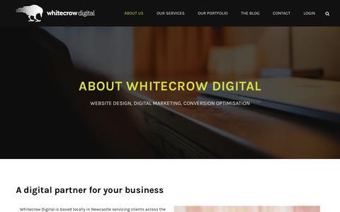 Screenshot of About Page whitecrowdigital.com.au - Digital Marketing Agency Newcastle, Sydney | Online Marketing Company - captured March 4, 2016