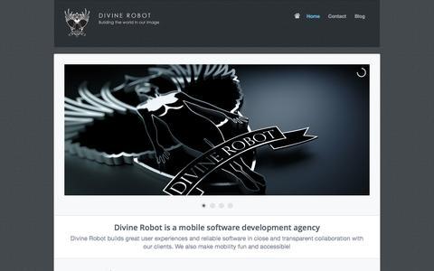 Screenshot of Home Page divinerobot.com - Divine Robot - captured Sept. 30, 2014