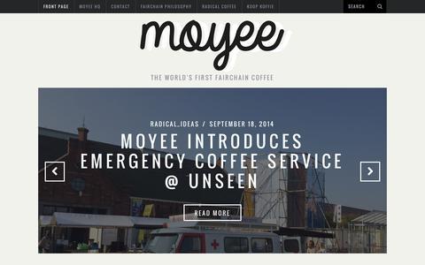 Screenshot of Blog moyeecoffee.com - Blog Moyeecoffee - captured Oct. 26, 2014