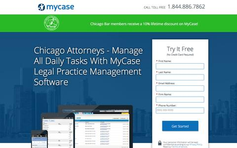 Screenshot of Landing Page mycase.com - MyCase | Legal Practice Management Software - captured Jan. 21, 2017