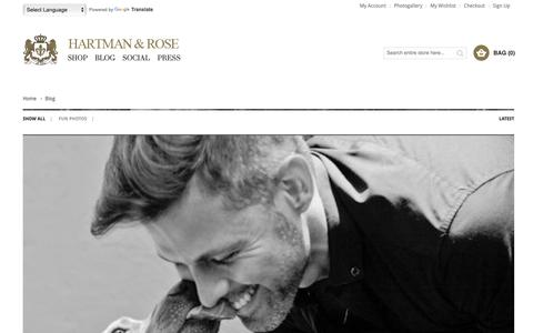 Screenshot of Blog hartmanandrose.com - Hartman & Rose - Luxury Dog Collars, Leads & more - captured Sept. 27, 2018