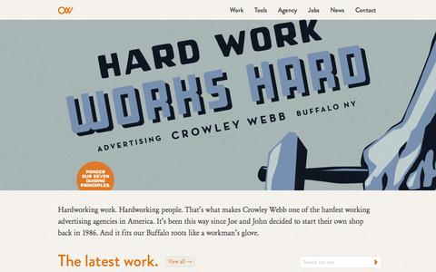 Crowley Webb | The hardworking ad agency
