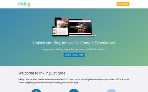 Screenshot of Developers Page inkling.com - Inkling Developer Portal - captured Sept. 16, 2014