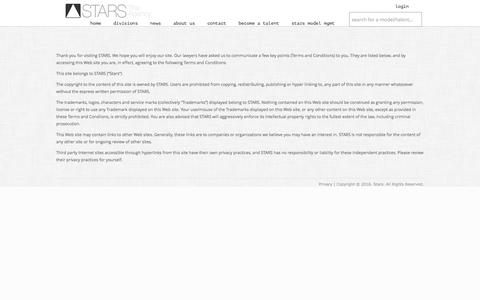 Screenshot of Privacy Page starsagency.com - Stars Agency | Talent Agency | Sports Agency - captured Dec. 11, 2016