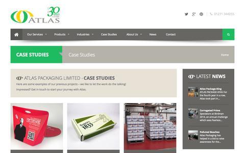 Screenshot of Case Studies Page atlaspackaging.co.uk - Case Studies | Atlas Packaging - captured Oct. 4, 2014